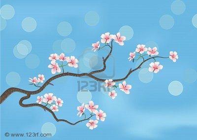 dessin cerisier japonais la floraison des cerisiers. Black Bedroom Furniture Sets. Home Design Ideas