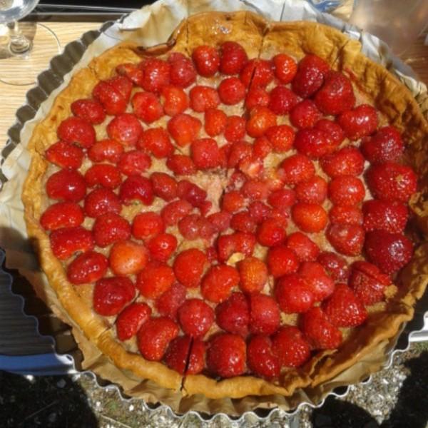 tarte fraises rhubarbe ammandes