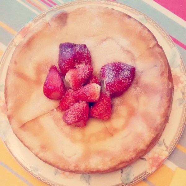 gâteau magique aux fraises